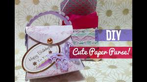 how to make a cute paper purse template included youtube