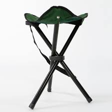portable folding travel 3 leg chair stool seat outdoor camping