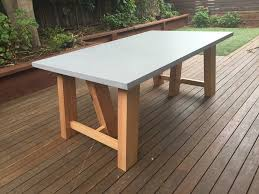 concrete and wood outdoor table concrete miami dining table lumber furniture