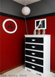 Paint Colors For Bedroom Son Wants Black And Red Bedroom Thinking Of Doing Grey On Bottom