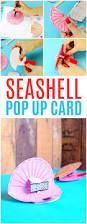 seashell pop up paper craft easy peasy and fun