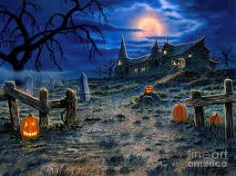 the haunted house painting by stu shepherd