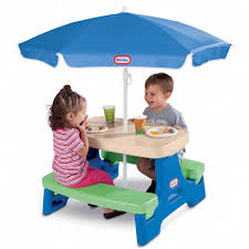 little kids picnic table kids picnic table w umbrella child outdoor folding little tikes