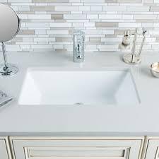 bathroom sinks hahn ceramic medium rectangular bowl undermount white bathroom sink