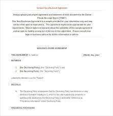 18 word non disclosure agreement templates free download free