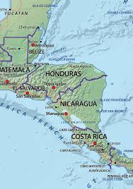 central america physical map physical digital map central america 631 the world of maps