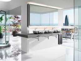 interior innovative bathroom design with black brick wall design