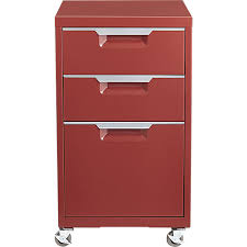 Tps Brick Red 3 Drawer Filing Cabinet Cb2 Home Notes