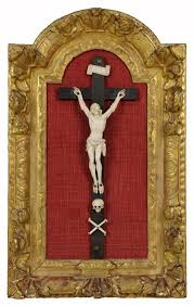 crucifix for sale carved ivory giltwood crucifix for sale