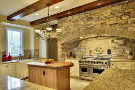 Kitchen Backsplash Stone Tiles Design Stunning Stacked Stone Backsplash Home Design Ideas