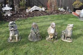 4 wind in the willows garden figures in barton on sea