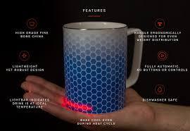 heated coffee mug glowstone mugs singapore qi wirelessly charged ceramic heated