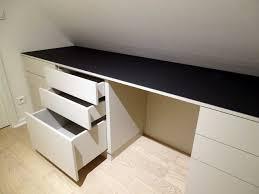 plateau bureau sur mesure bureau avec rangement integre maison design hosnya com