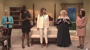 snl s melania trump gets advice from former first ladies ahead of