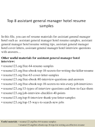 General Manager Resume Template Https Image Slidesharecdn Com Top8assistantgener