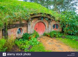 north island new zealand may hobbit house with red north island new zealand may hobbit house with red door hobbiton movie set site made for movies and lord the ring matamata