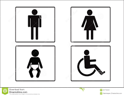 Man Woman Bathroom Symbol Restroom Symbol Icon Of Man Woman Disability And Child Stock