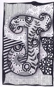 name letter pattern zentangle letter r zebra letters name bunting by forevertangles