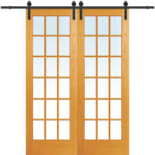 Home Depot Doors Interior 60 X 96 No Panel Barn Doors Interior U0026 Closet Doors The