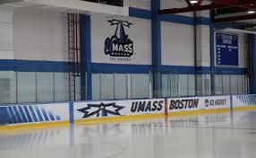 the edward t barry ice rink umass boston athletics
