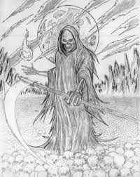 grim reaper coloring pages coloring for kids 5225