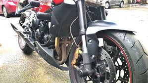 triumph street triple 2013 crash mushrooms fairing protectors full