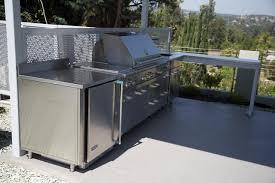Outdoor Kitchen Granite Countertops Cherry Wood Colonial Glass Panel Door Outdoor Kitchen Cabinet