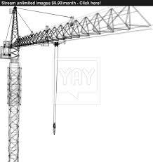 tower construction crane vector rendering of 3d vector