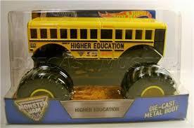 higher education bus 1 24 scale monster jam truck diecast