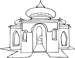 9 mewarnai gambar masjid bonikids coloring page pinterest