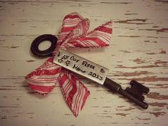 new home ornament one side personalized skeleton key