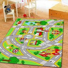 Boy Rugs Nursery Amazon Com Huahoo Kids U0027 Rug With Roads Kids Rug Play Mat City