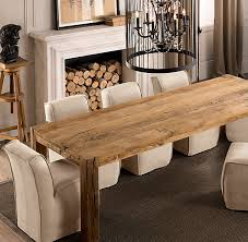 reclaimed wood dining room table kitchen table