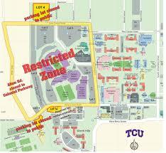 tcu parking map tcu stadium map my