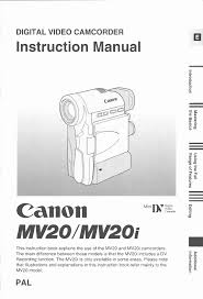 canon camcorder mv 20 user guide manualsonline com