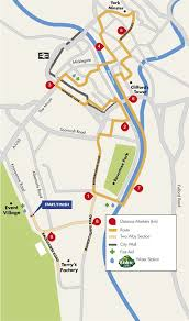road map of york route run for all