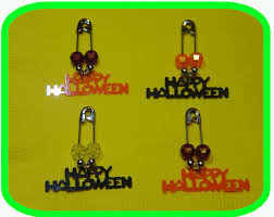 happy halloween coil less charm pin
