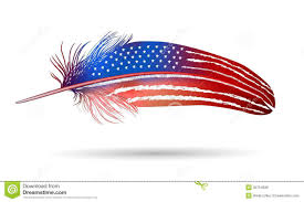 American Flag Powerpoint Background Isolated Feather On White Background American Flag Stock Photo