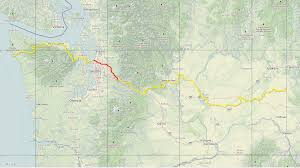 Eatonville Washington Map by Cross Washington Mountain Bike Route Home