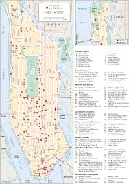 New York City Attractions Map by New York City Places Of Interest In Manhattan Students