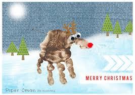 hybrid crafty christmas card u2013 rudolph the reindeer