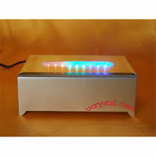 led light base for crystal light stands for crystals 9 led rectangular crystal light bases