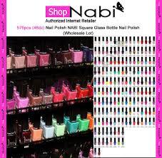 576pcs 48dz nail polish nabi square glass bottle nail polish
