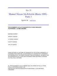 nissan almera por partes manual nissan 2da edición hasta 1999 parte 3 docx