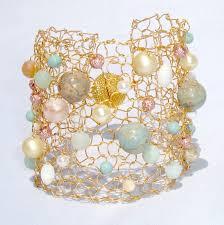 cuff bracelet with stone images Amazonite gold cuff bracelet big statement jewelry wide arm cuff jpg