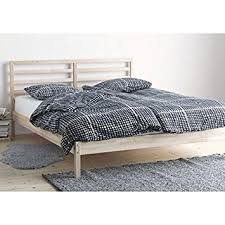 amazon com ikea tarva full size bed frame solid pine wood brown