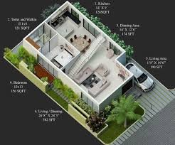 50 square yard home design house plan for 30 feet by 60 plot size 200 square yards 3060 plans