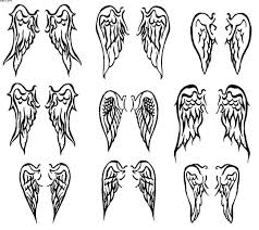 best tatto design angel wings tattoo designs clip art library