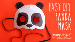 Free Printable Halloween Mask Templates by Printable Panda Mask Template Photo Tutorial Youtube