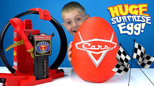 disney cars play doh surprise egg with disney cars toys